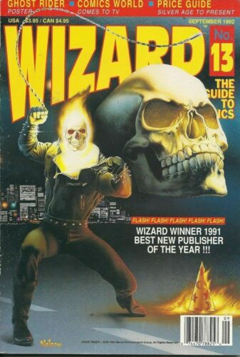 Wizard: The Guide to Comics September 1992 -Number 13 - With Ghost Rider Poster