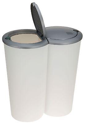 Abfalleimer 50 Liter DuoMülleimer - 2 x 25 - Müllsammler Mülltrenner Mülleimer