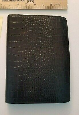 Franklin Covey Classic Black Embossed Alligator Leather Folionotebook Cover