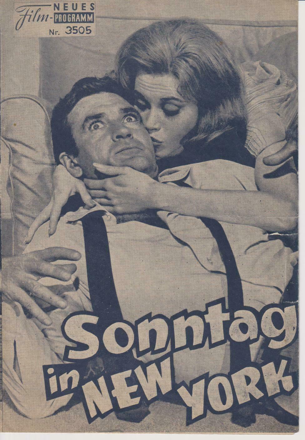 "MOVES STARS-JANE FONDA;CLIFF ROBERTSON-FILM ""SONNTAG IN NEW YORK"" -PROGRAM"