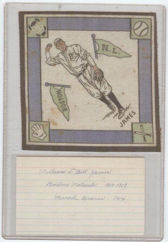 Bill James Boston Braves Signed Index  &  B18 1914 Blanket