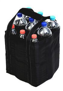 Flaschentasche Bottlebag Tasche für 9 Flaschen Einkauf Tragetasche schwarz