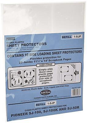 Pioneer Scrapbook Sheet Protectors Pack Of 10. 11x14 Black