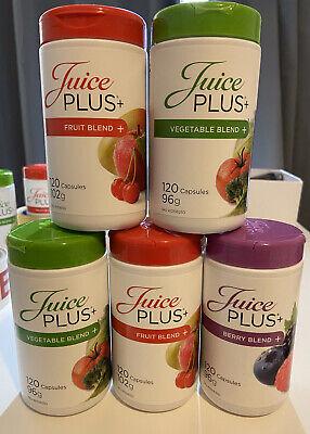 Juice plus capsules 5x120,1 Berry 2 Fruit and 2 Veg Long Expiry...