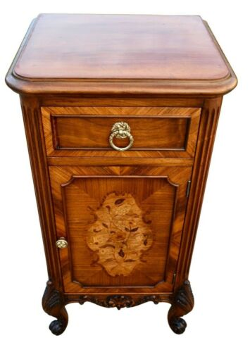 Vintage Carved & Inlaid French Style Cabinet/Nightstand
