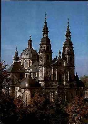 Kirchen Motiv-Postkarte Kirche Dom in FULDA Hessen ~1980 color AK ungelaufen