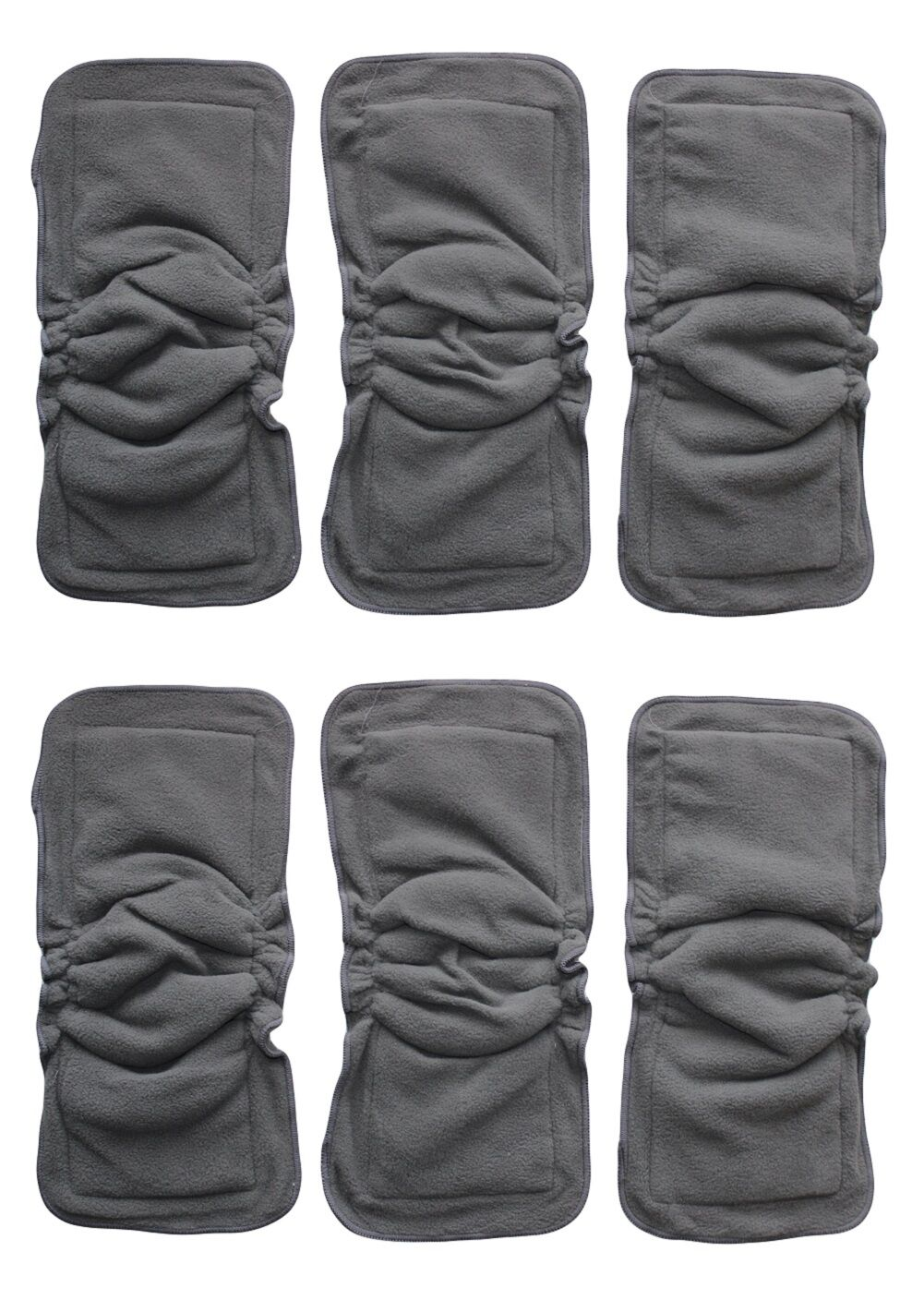 BAMBOO CHRACOAL INSERTS DOUBLERS WITH GUSSETS FOR BABY CLOTH