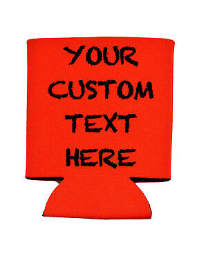 Custom Can Koozies Cooler Personalized Holiday Party Beer Soda YOU DESIGN!!! - Personalized Koozie