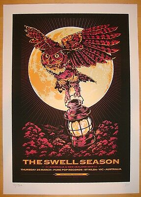 2010 The Swell Season - Melbourne Silkscreen Concert Poster s/n by Ken Taylor