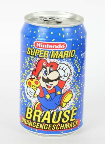 Vintage Brause Orangengeschmack Super Mario Nintendo Germany 330 ml empty