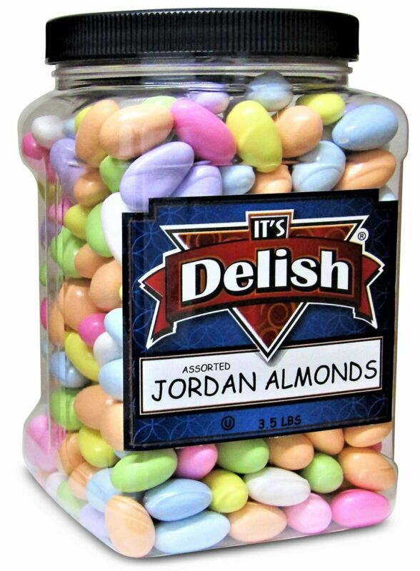 Assorted Jordan Almonds by Its Delish, 3.5 lbs Jumbo Container | Pastel...