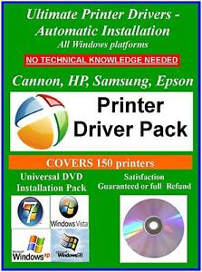 Ultimate Automatic Printer Drivers Disc Cannon HP Samsung Epson XP VIist 7 32Bit