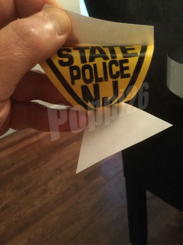NJ  New Jersey State Police INSIDE - WINDSHIELD *Authentic Decal Sticker