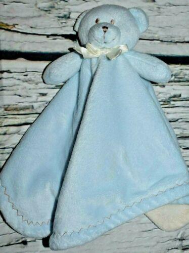 Blankets and Beyond Baby Boy Blue Teddy Bear Security Blanket Nunu Lovey