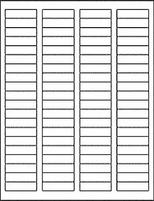 25 Sheets 2000 Blank Return Address Labels - 1.75 X .5 - Free Shipping