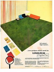 publicite advertising 1962 linoleum revetement de sol ebay. Black Bedroom Furniture Sets. Home Design Ideas