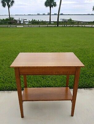 Antique Vintage Tiger Quarter Sawn Oak Library School -