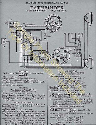 1921 1922 Elgin Models k and K-1 Car Wiring Diagram Electric System Specs 507