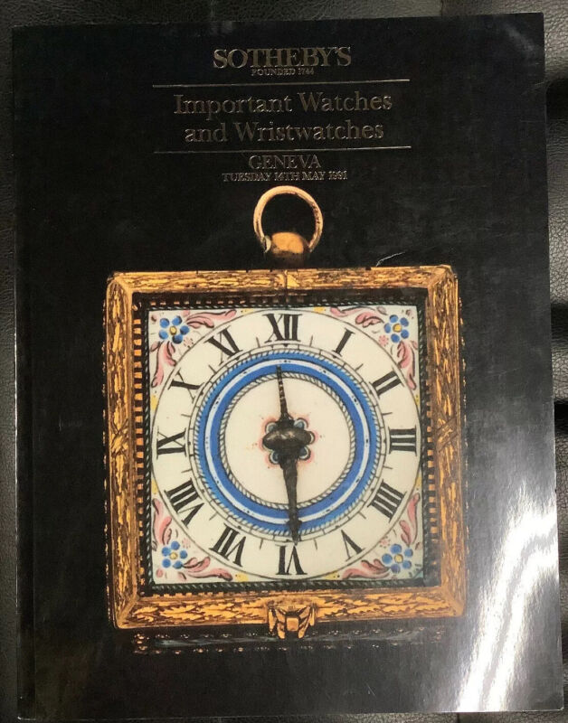 SOTHEBY'S Important Watches & Wristwatches Geneva 1991 Auction Catalog & Prices