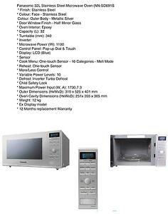 Microwave Panasonic  Stainless Steel (NEW) Microwave Oven Quakers Hill Blacktown Area Preview