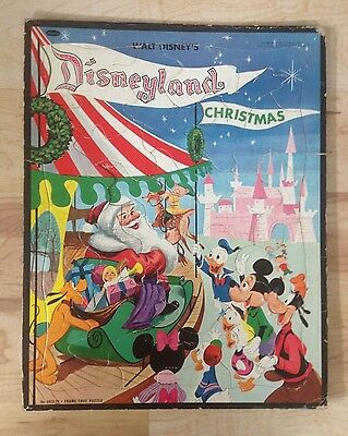 VINTAGE Walt Disney DISNEYLAND CHRISTMAS Frame-Tray Puzzle Whitman 1956 4422:29