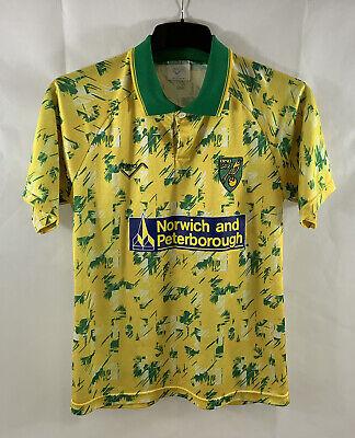 Norwich City Home Football Shirt 1992/94 Adults Small Ribero A805 image