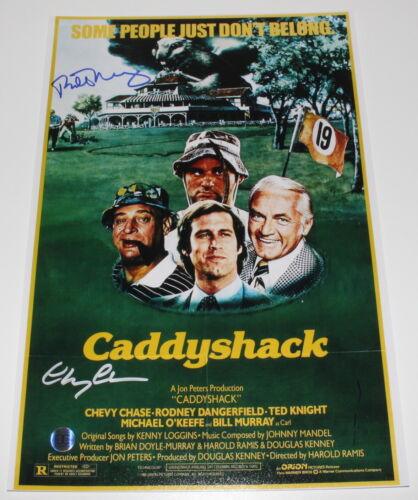 BILL MURRAY & CHEVY CHASE SIGNED 'CADDYSHACK' 12x18 MOVIE POSTER PHOTO B w/COA