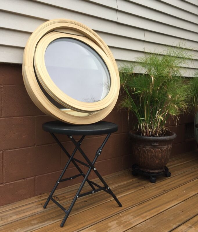 """New 24"""" round venting window with screen, primed or natural, low E glass"""