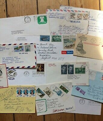 Vintage Used Cover Envelopes American Scrapbooking Junk Travel Journal 6 Pack