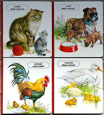 Gruppo 4 albi illustrati educativi per bambini, Ed. Valentina, 1987