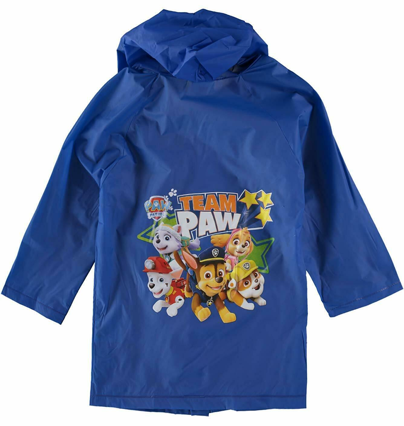 Paw Patrol Boys Hooded Size Rain Coat Jacket Waterproof Yout
