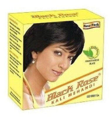 Black Rose 30g (3 Sachets) Kali Black Mehandi Henna HERBAL BASED Hair Dye Powder Black Rose Hair Dye