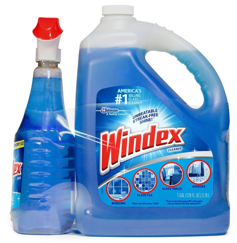 Windex Original Glass Cleaner 128 oz. refill + 32 oz. trigge