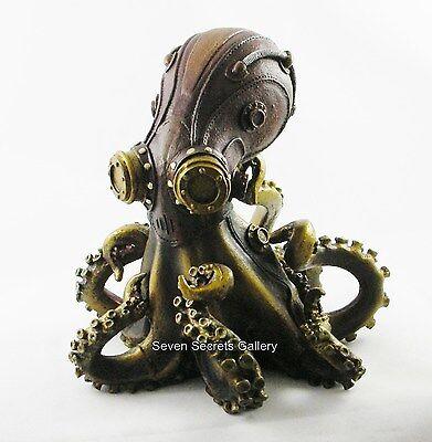 Steampunk Octopus Octo-Steam Tendrils Bronzed Statue Figurine Ornament Figure