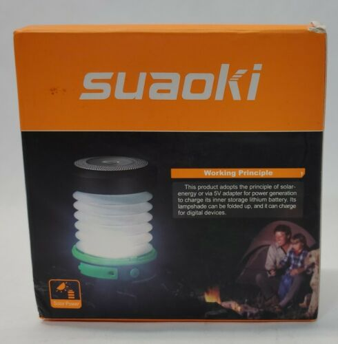camping lantern with solar mobile charger camping