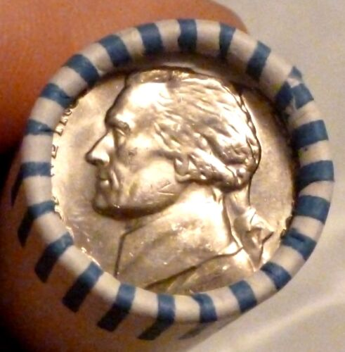 1968S JEFFERSON NICKEL UNCIRCULATED  ORIGINAL ROLL IN A BRANDT WRAPPER