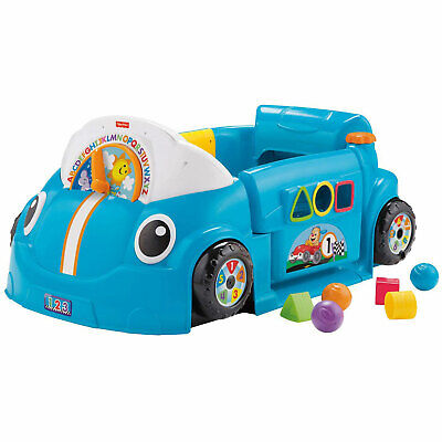 Fisher-Price Laugh & Learn Crawl Around Car Baby Activity Learning Toy, Blue