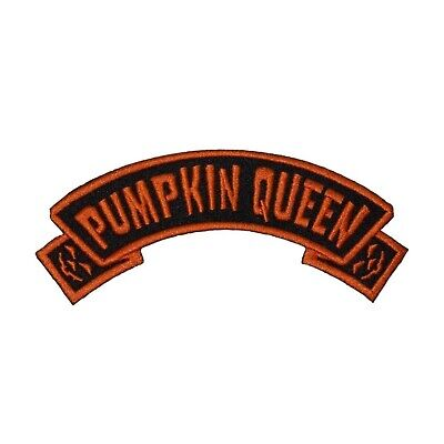 Pumpkin Queen Arch Patch Kreepsville 666 Name Tag Embroidered Iron On Applique