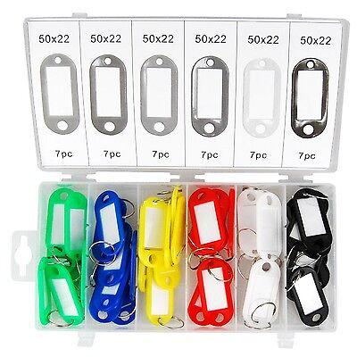 Tifler 42 Schlüsselschilder Set Schlüsselschild beschriftbar Schlüsselanhänger
