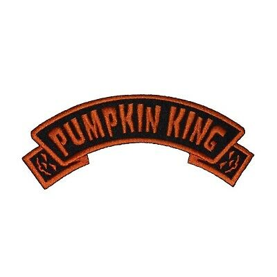 Pumpkin King Arch Patch Kreepsville 666 Name Tag Embroidered Iron On Applique