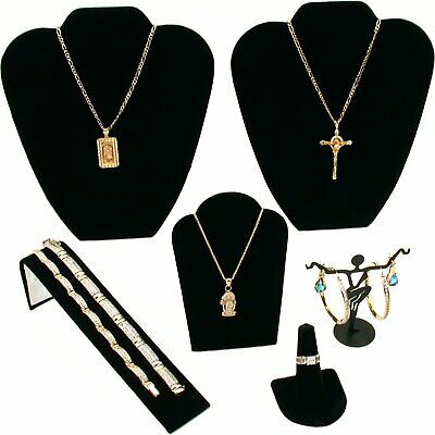 Black Velvet Jewelry Display 6pc Starter Set Bonus