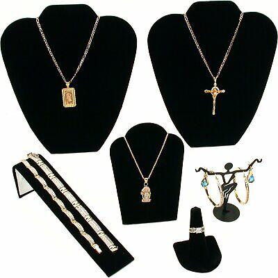 Black Velvet Jewelry Display 6pc Starter Set Bonus