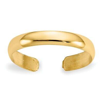 14k Yellow Gold High Polished Toe Ring Polished Toe Ring
