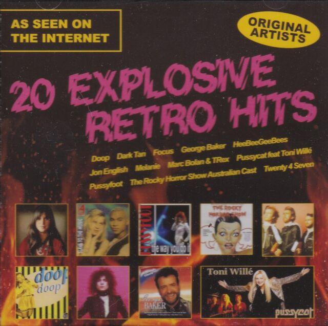 [BRAND NEW] CD: 20 EXPLOSIVE RETRO HITS: VARIOUS ARTISTS