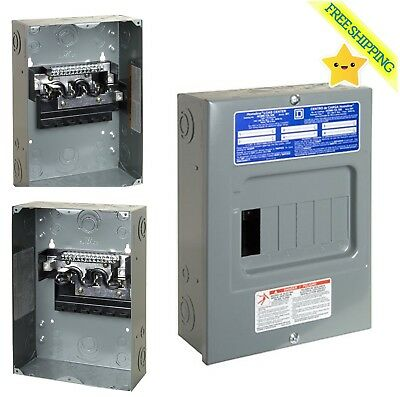 12 Circuit 6 Space 100 Amp Indoor Electric Main Lug Load Center Panel Board Box ()