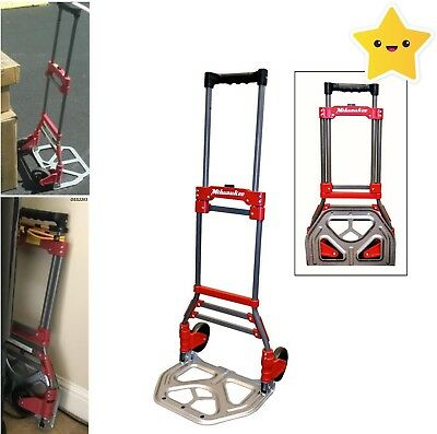 Milwaukee 150-lb Capacity Folding Foldable Hand Truck Trolley Dolly Fold Up NEW!