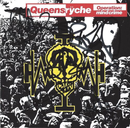 Queensryche Oeration Mindcrime 1 CD signed booklet by all 5 including DeGarmo!!
