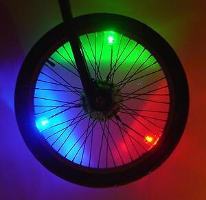 Bicycle Wheel Lights LED Safety Bike Spoke Rim Night flashing BMX Mountain Neon