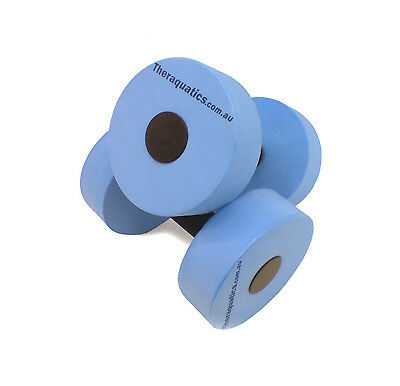 Water Dumbbell, Aquatic Hand Buoy, Aqua Aerobic Barbell Dumbell Foam NEW 6035