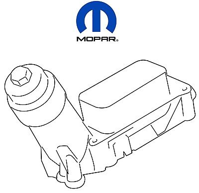 14-17 Chrysler Dodge Jeep Wrangler 3.6 Oil Filter Housing Adapter Mopar OEM NEW